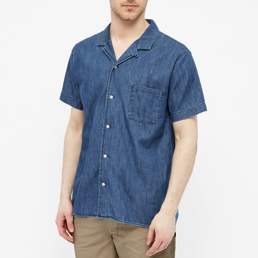 YMC Malick Vacation Shirt - Indigo Bleach