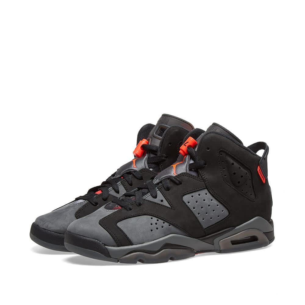 Air Jordan x PSG 6 Retro GS Black, Grey