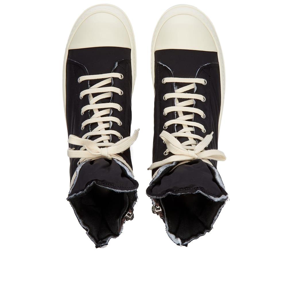 Rick Owens DRKSHDW Sneaks Cotton Nylon Hi Top Sneaker - Black & Milk