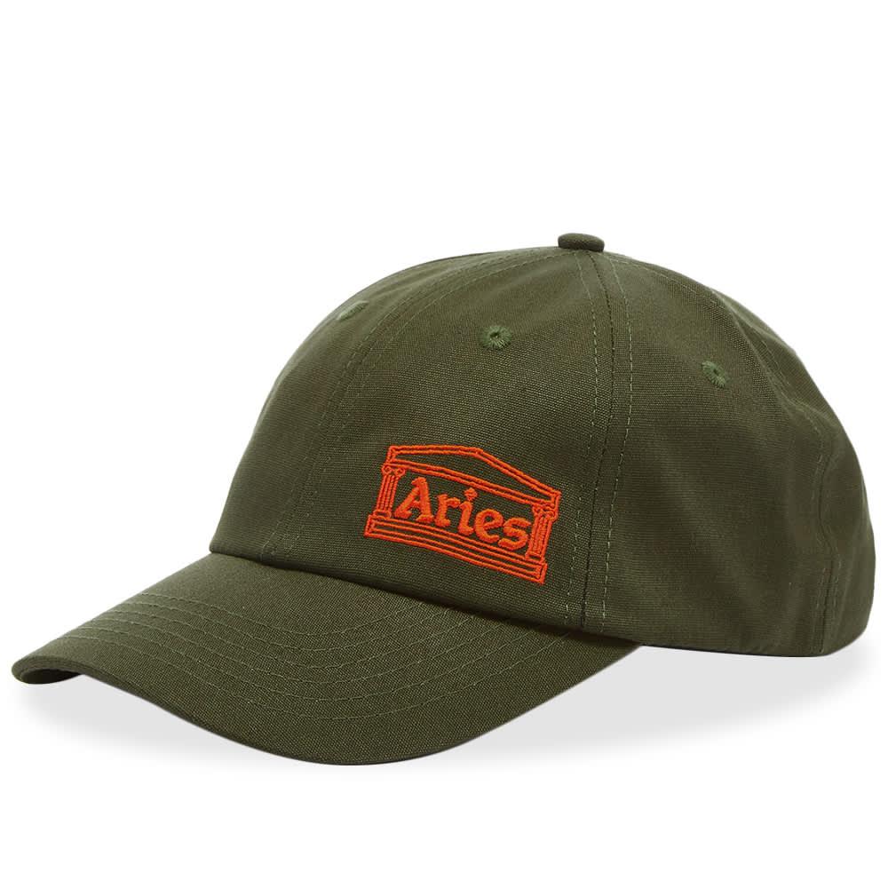 Aries Temple Label Cap - Olive