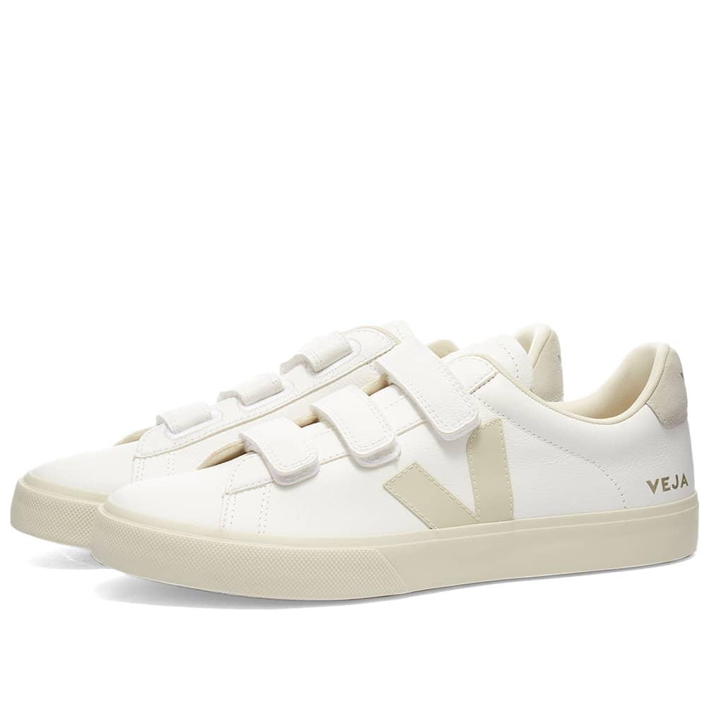 Veja Recife Velcro Sneaker - White & Natural