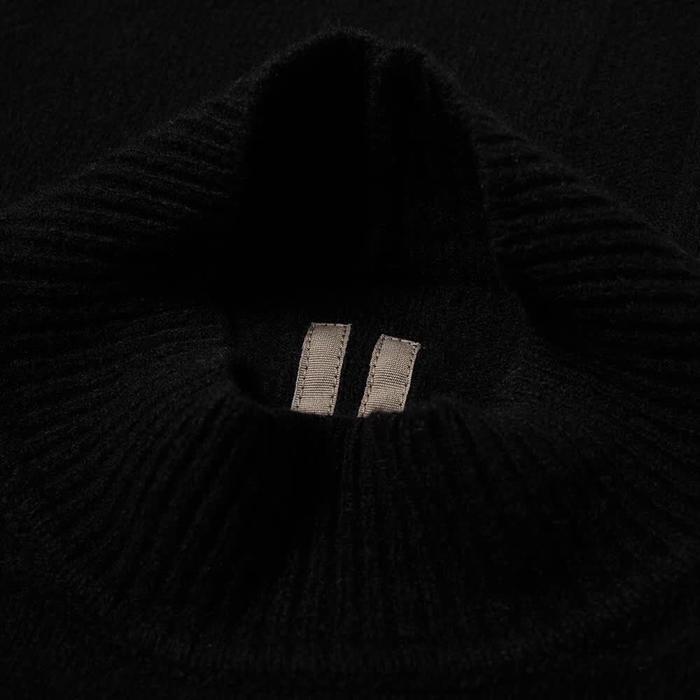 Rick Owens Oversized Turtleneck Knit - Black