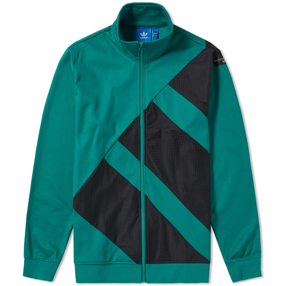 Adidas EQT Track Top Black \u0026 Sub Green