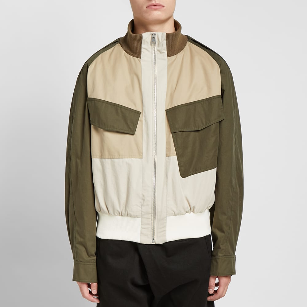 JW Anderson Colour Block Bomber Jacket - Khaki