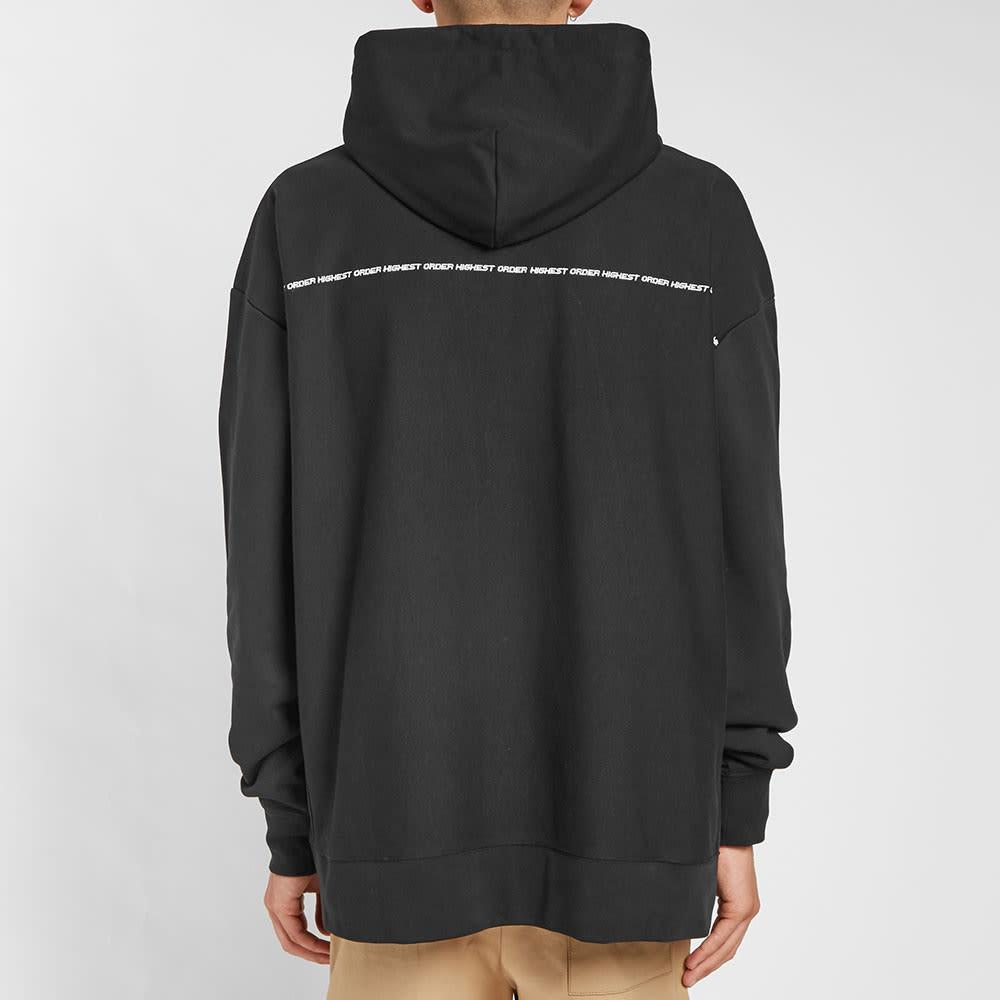 McQ Alexander McQueen Logo Popover Hooded Fleece - Darkest Black