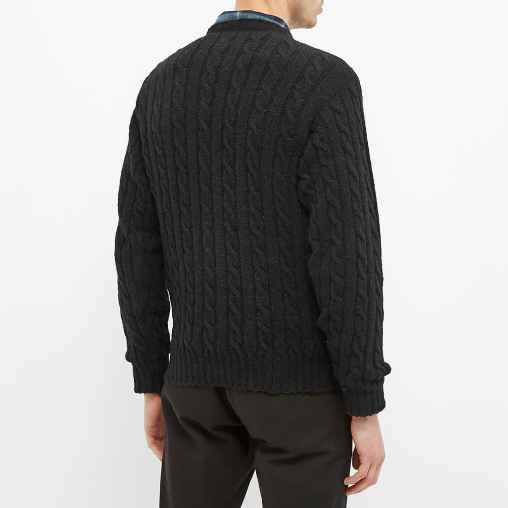 Jamieson's of Shetland Cable Crew Knit - Black