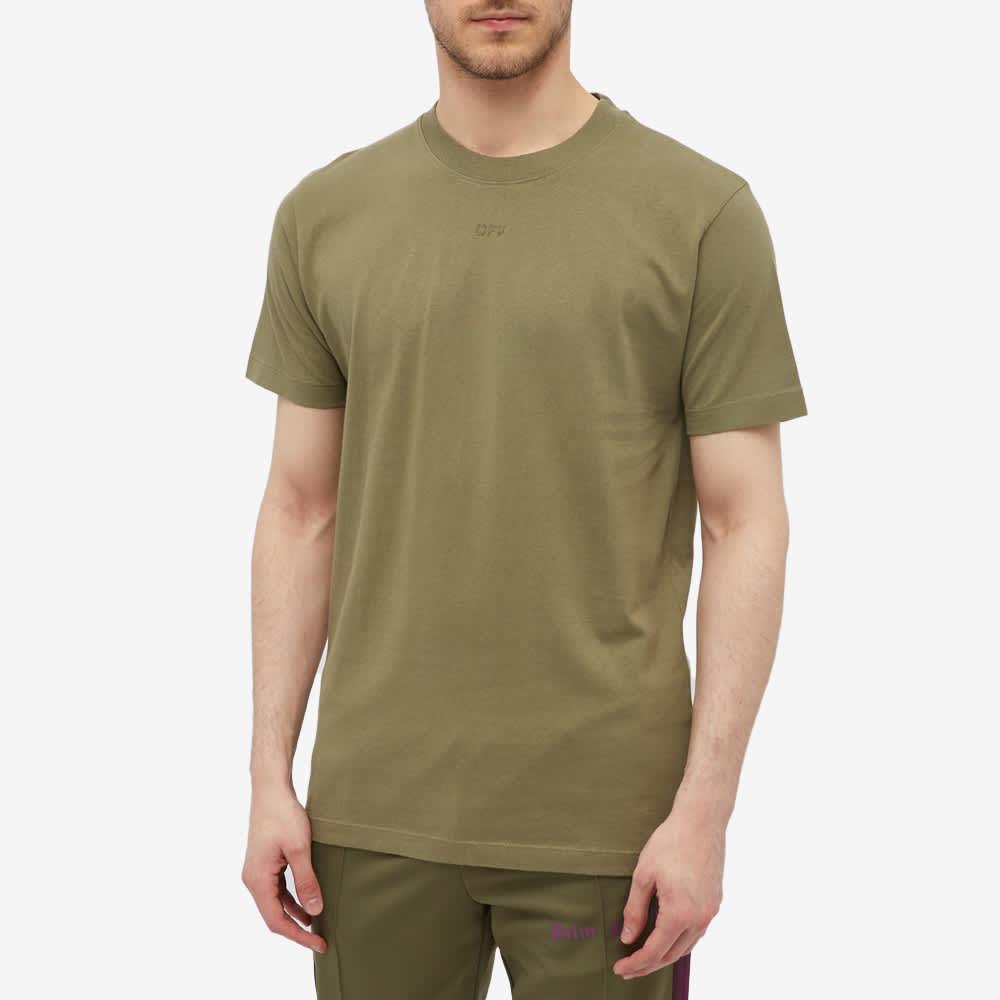 Off-White Slim Rubber Arrow Tee - Green