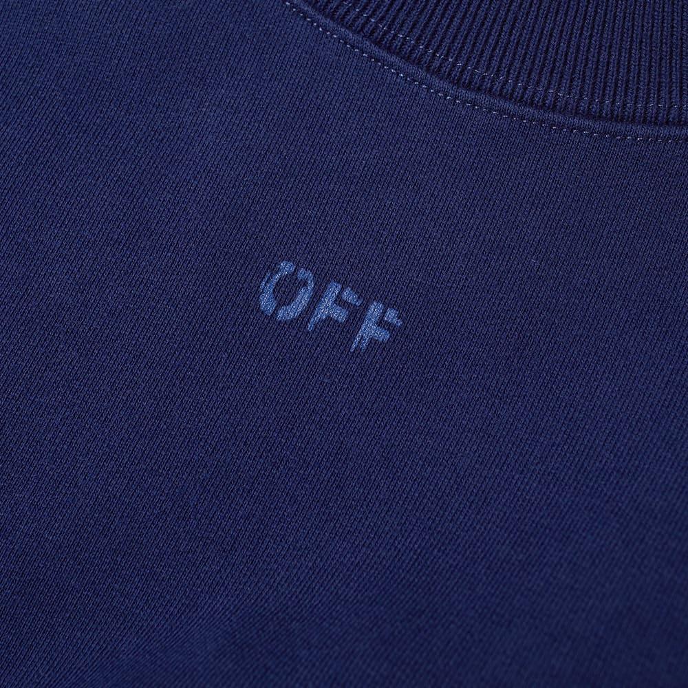 Off-White Rubber Arrow Skate Crew Sweat - Blue