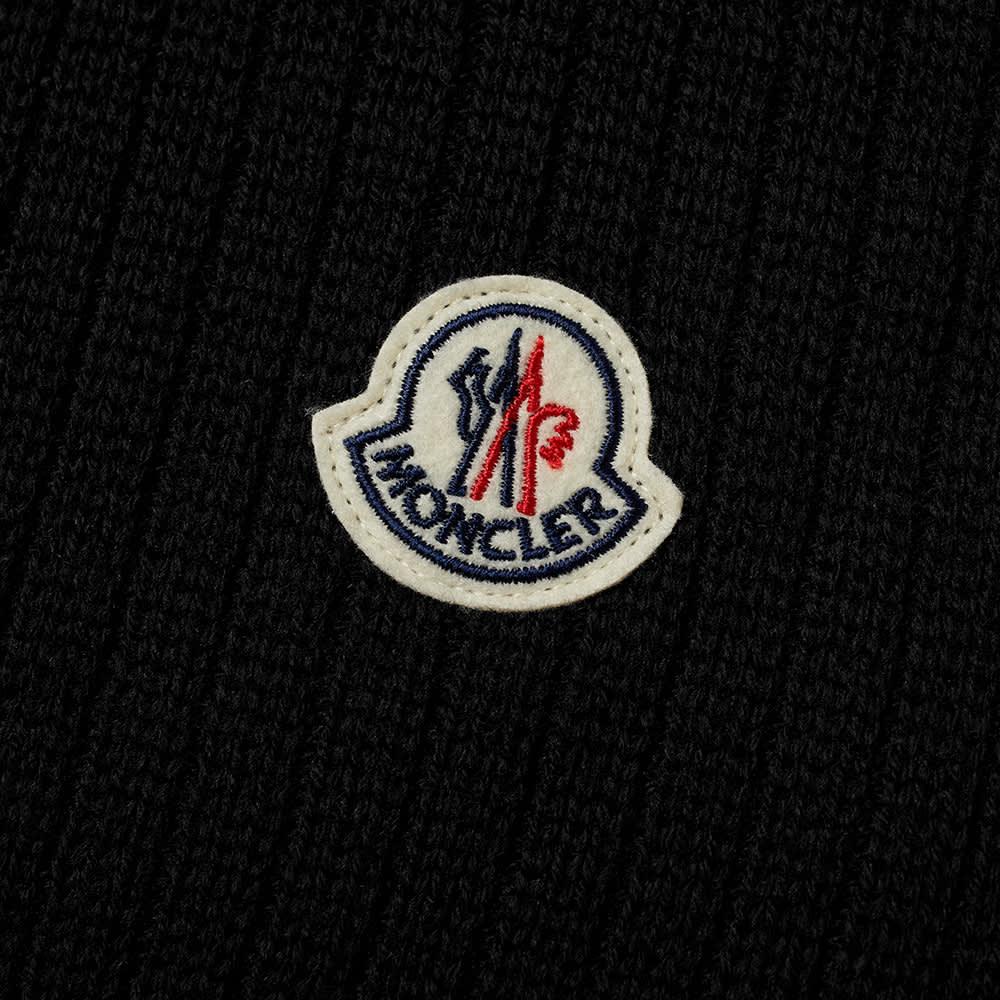 Moncler Logo Wool Scarf - Black