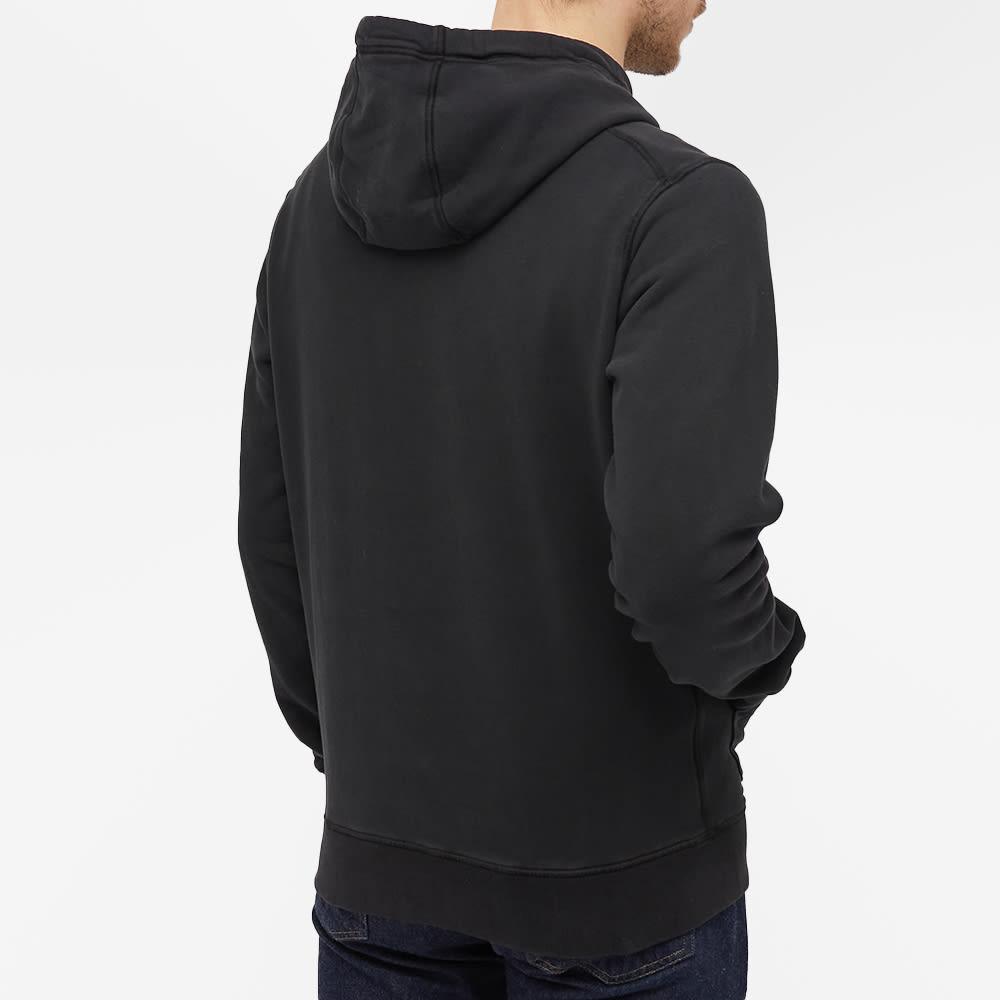 Stone Island Garment Dyed Popover Hoody - Black