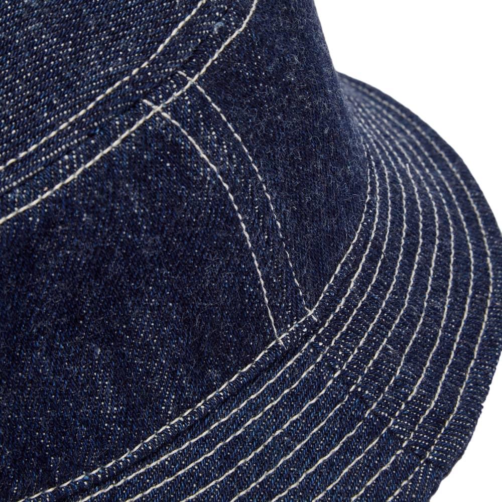 Nigel Cabourn Lybro Denim Bucket Hat - Indigo
