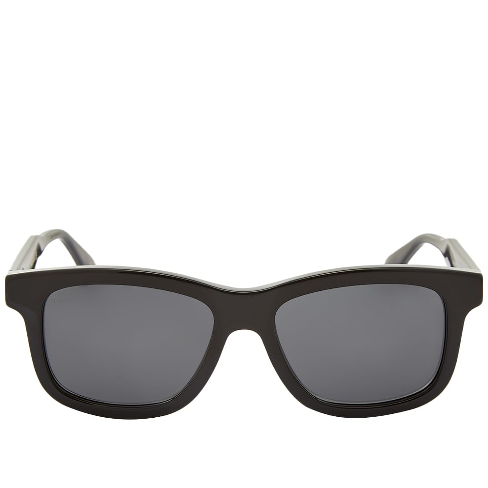 Gucci Rectangular Frame Acetate Sunglasses - Black & Grey
