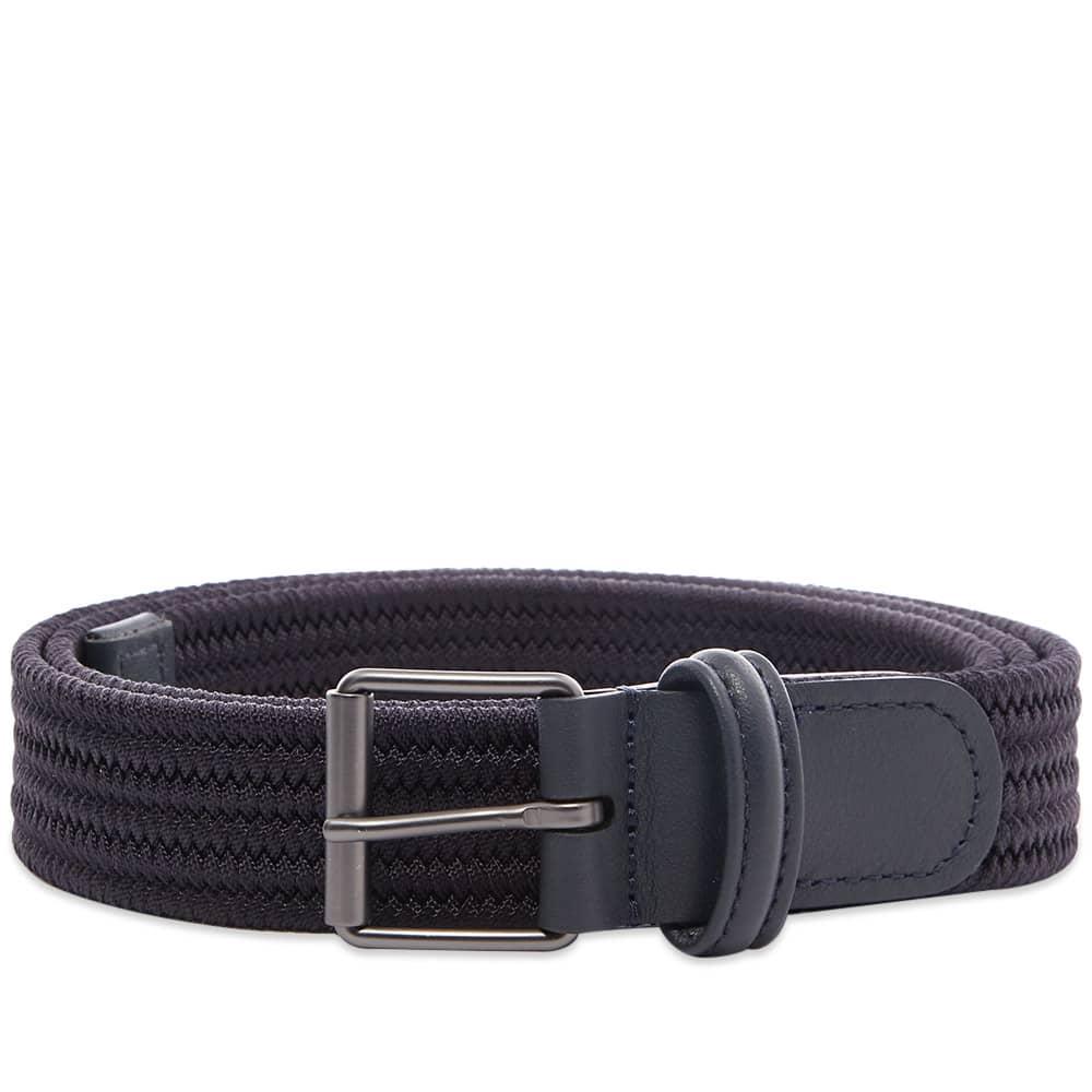 Anderson's Slim Woven Textile Belt - Navy