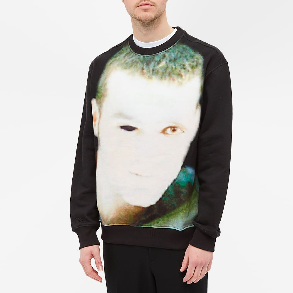 032c Face Printed Sweat - Black