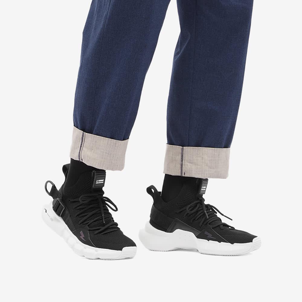 Neil Barrett x Li-Ning Buckle Strap Mesh Sneaker - Black & White