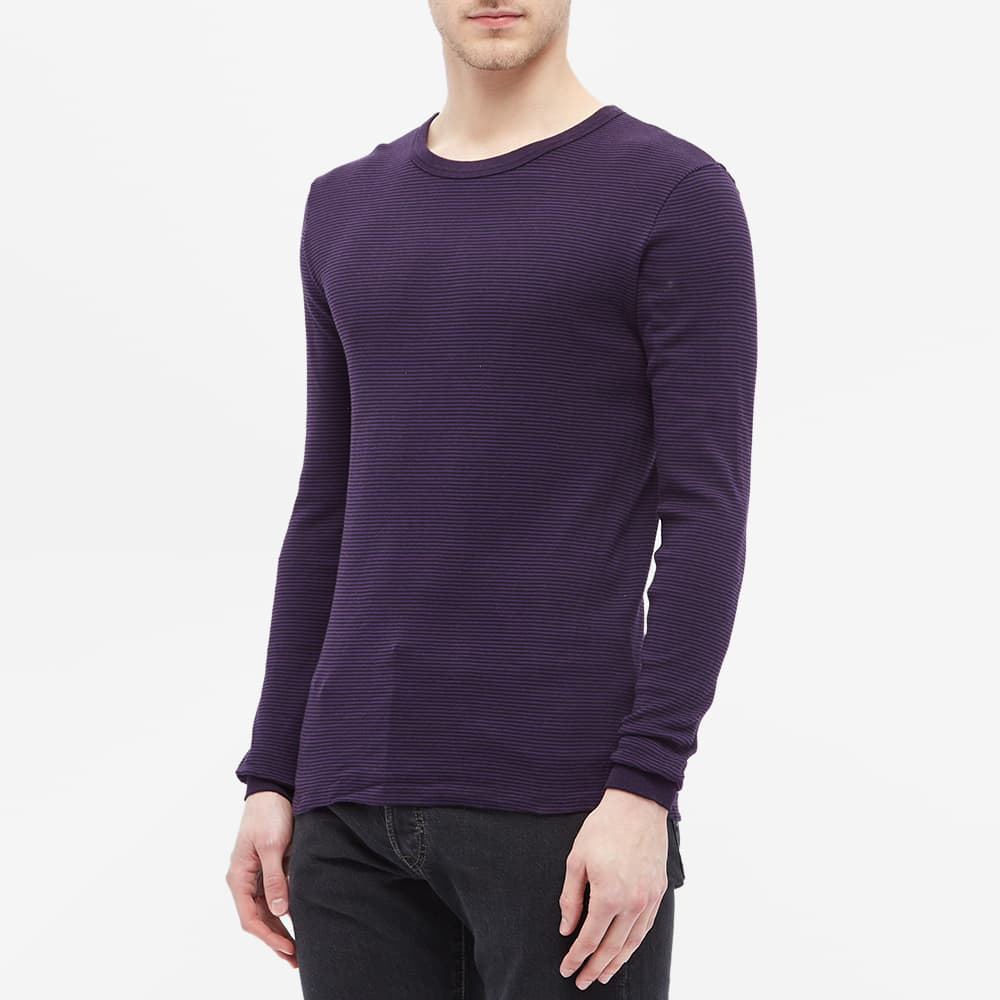 Schiesser Karl-Heinz Long Sleeve Crew Tee - Purple