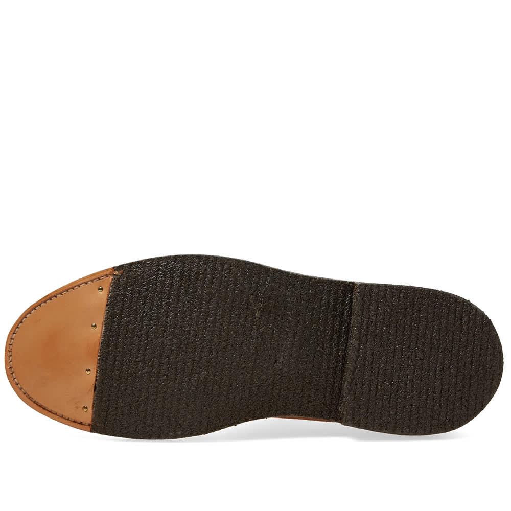 Alden Crepe Sole Plain Toe Blucher - Snuff Suede