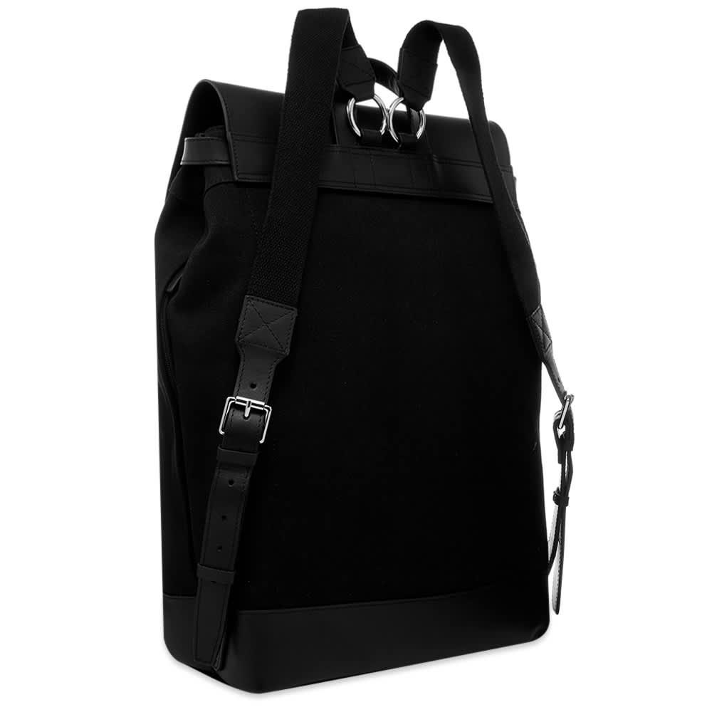 Sandqvist Hege Canvas & Leather Backpack - Black