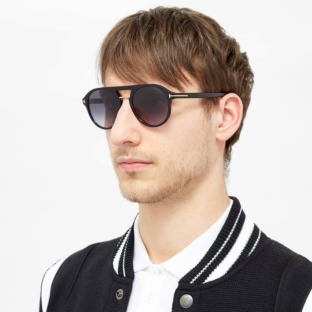 Tom Ford FT0675 Ivan-02 Sunglasses - Shiny Black & Gradient Blue