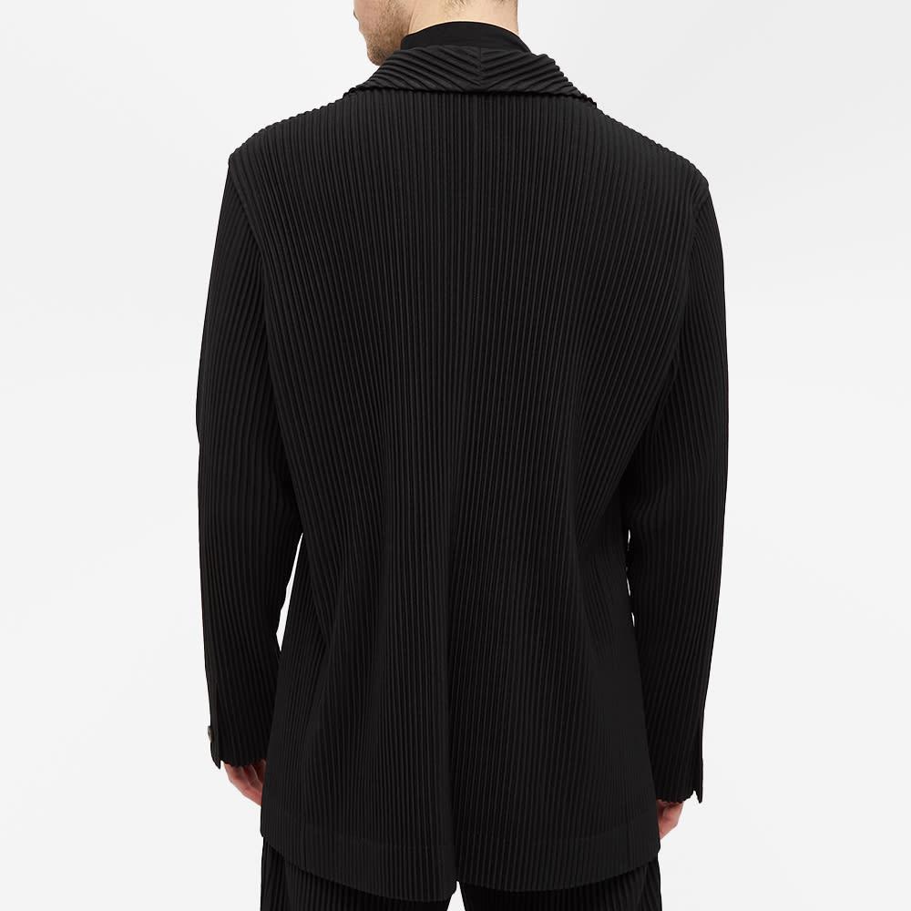 Homme Plissé Issey Miyake Pleated Single Breasted Jacket - Black