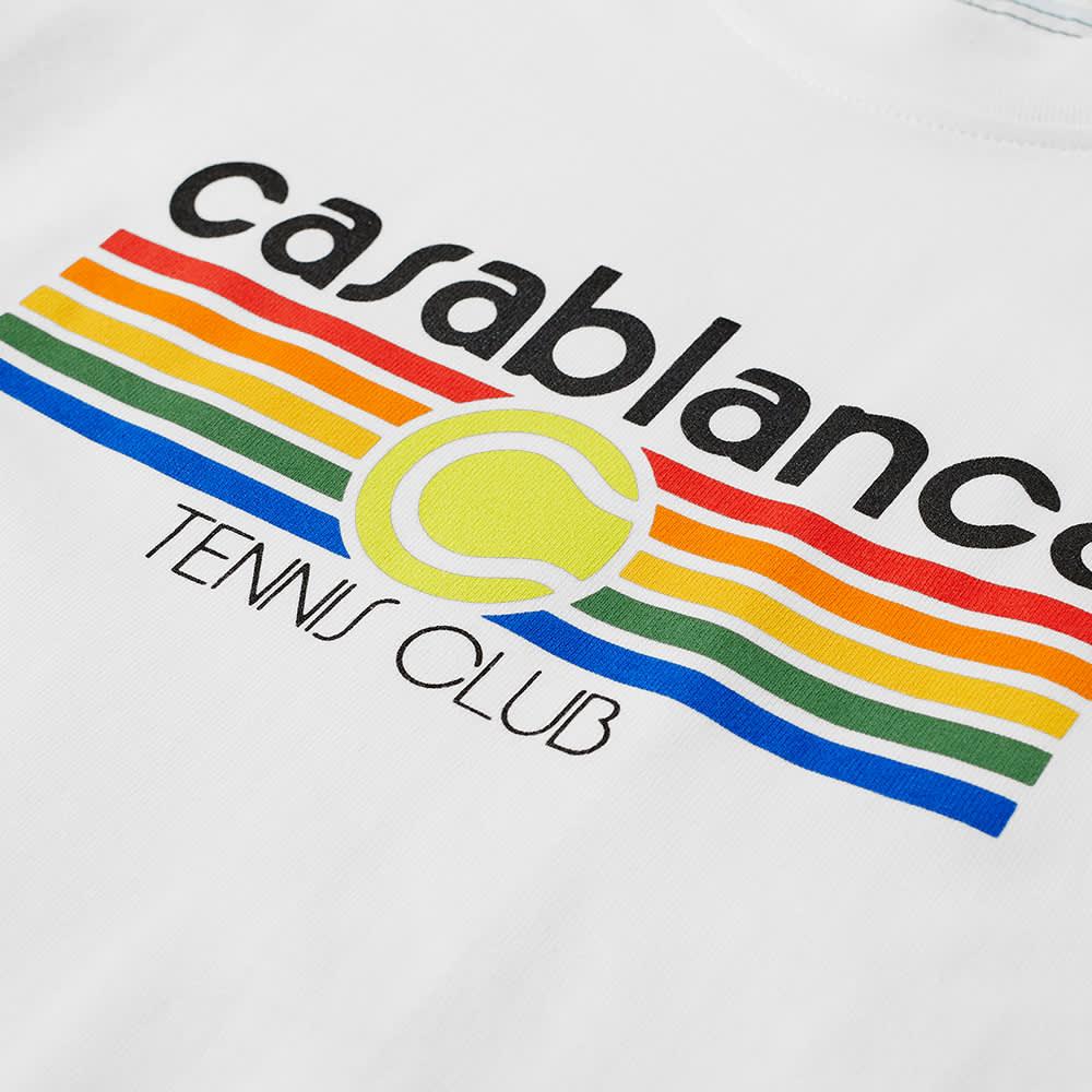 Casablanca Vintage Tennis Stripe Tee - White