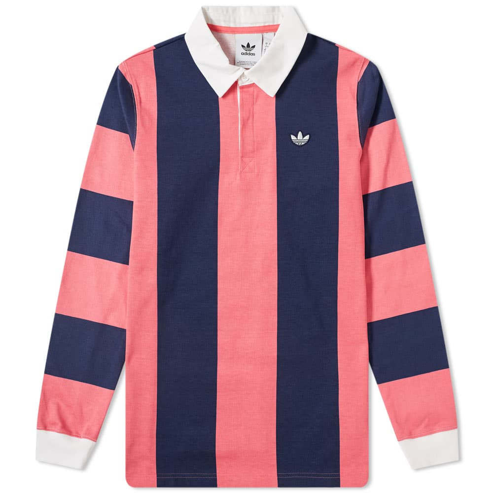 Adidas Rugby Shirt - Night Indigo & Real Pink