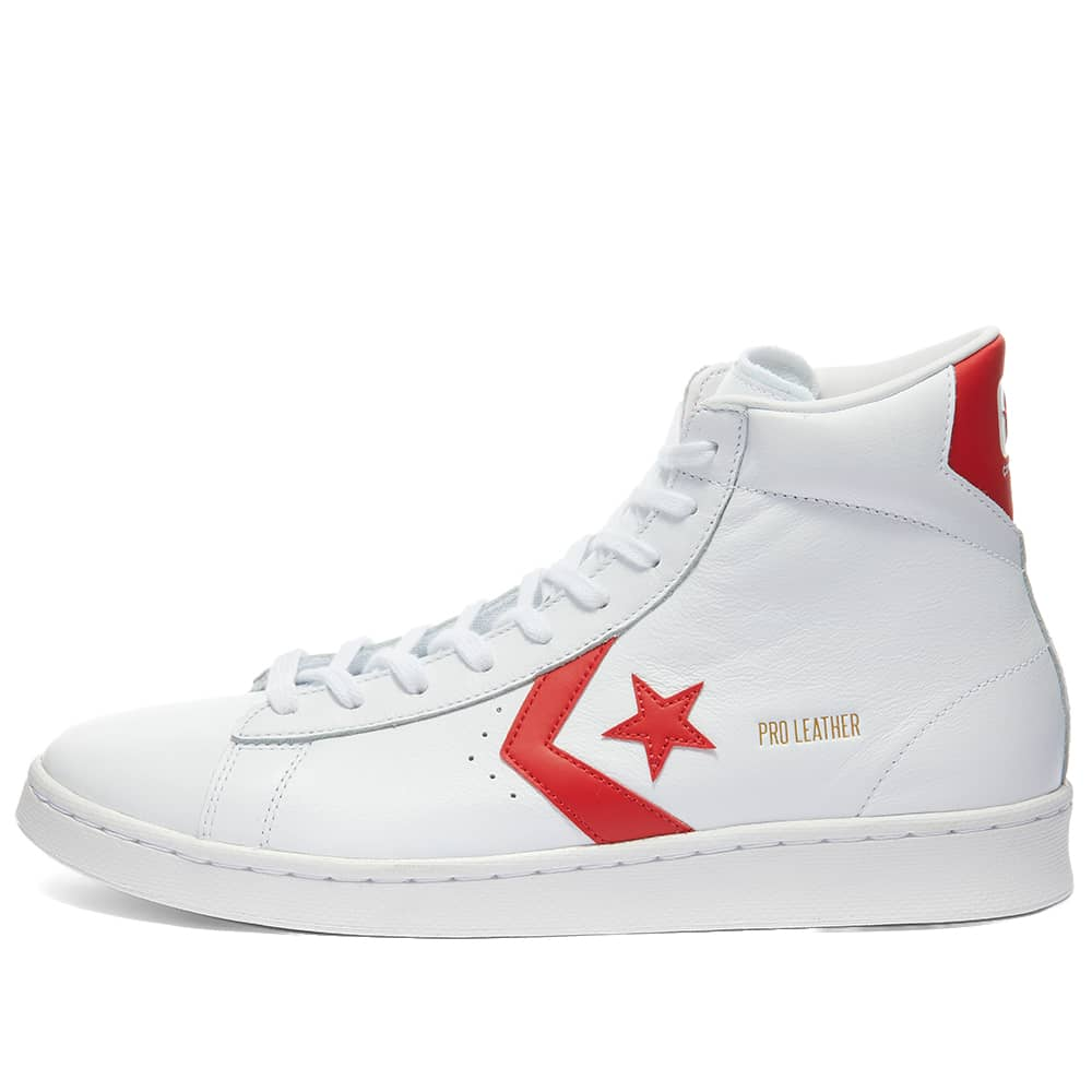 Converse Pro Leather Mid - White & University Red