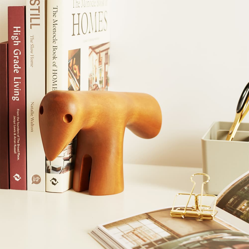 Vitra Girard Bird Bookends - Stained Maple