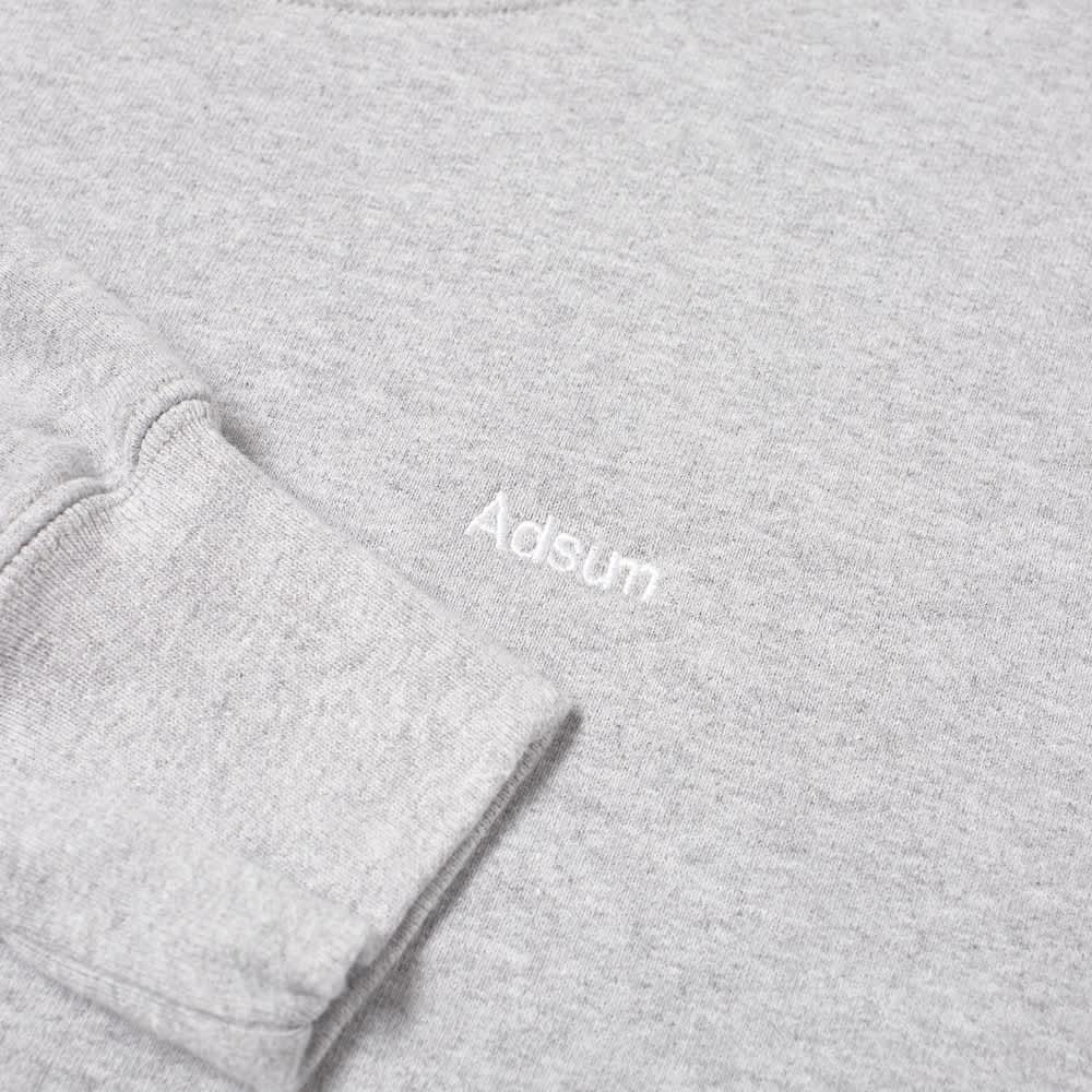Adsum Classic Logo Crew Sweat - Ash Heather