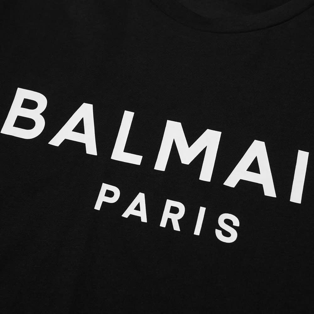 Balmain Paris Logo Tee - Black & White