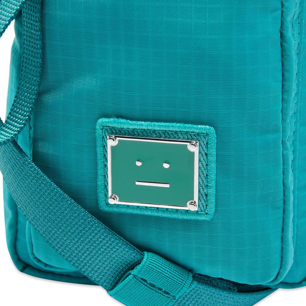 Acne Studios Arvel Plaque Face Cross Body Bag - Jade Green
