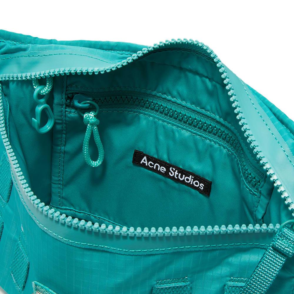 Acne Studios Agios Plaque Face Cross Body Bag - Jade Green