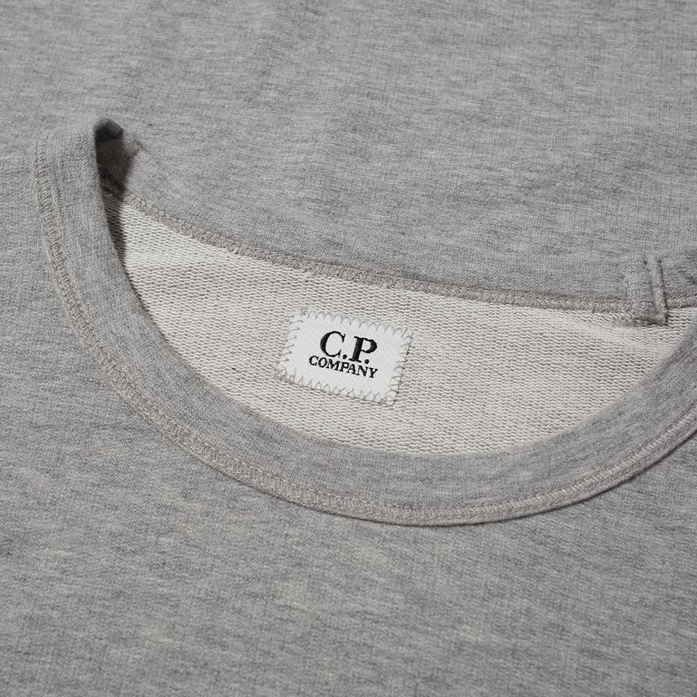 C.P. Company Arm Lens Crew Sweat - Grey Melange
