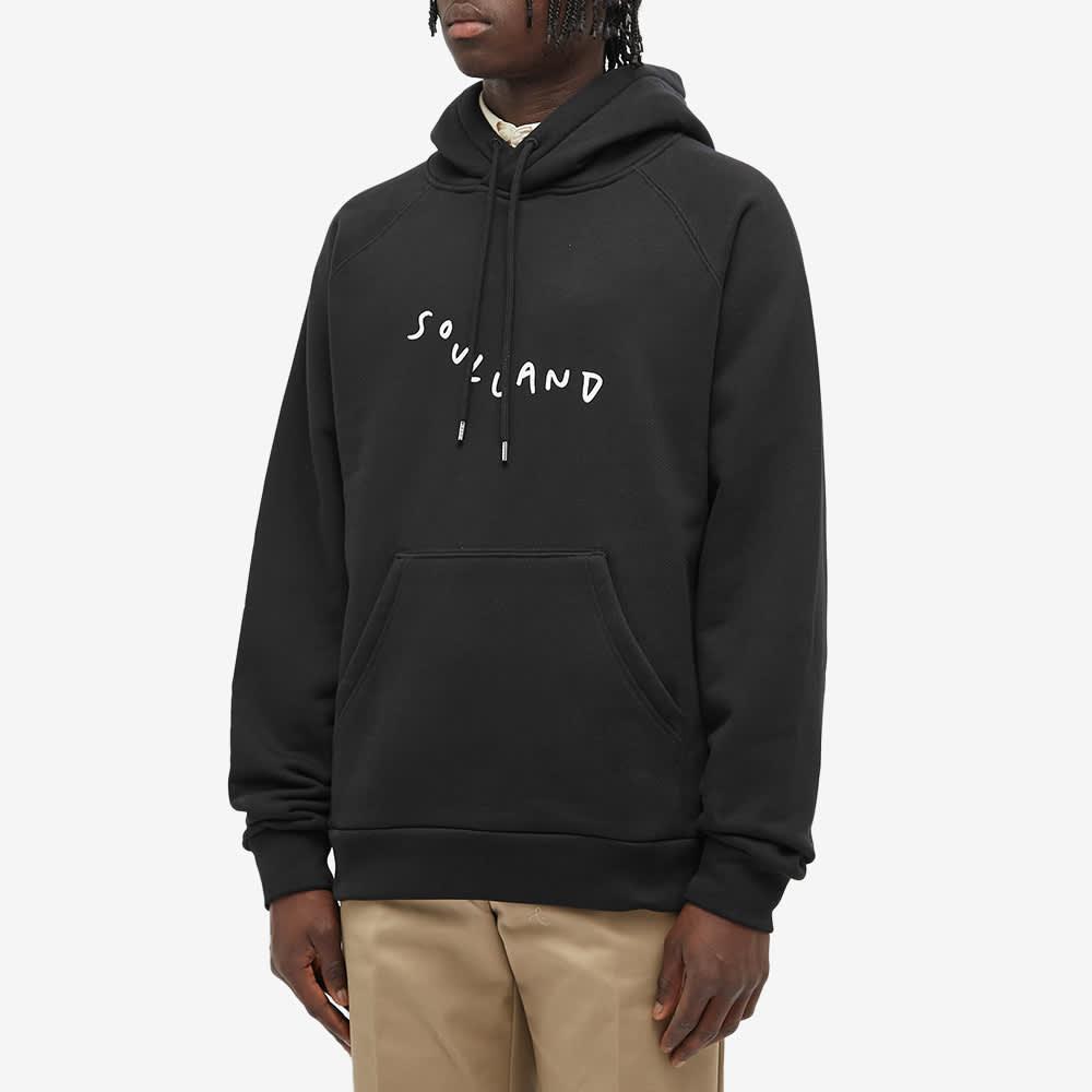 Soulland Marker Logo Hoody - Black