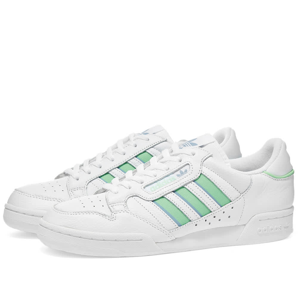 Adidas Continental 80 Stripes W - White, Ambient Sky & Mint
