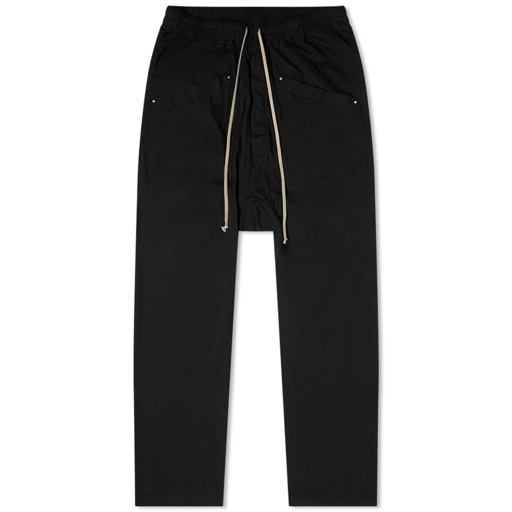 Rick Owens DRKSHDW Cargo Drawstring Long Pants - Black