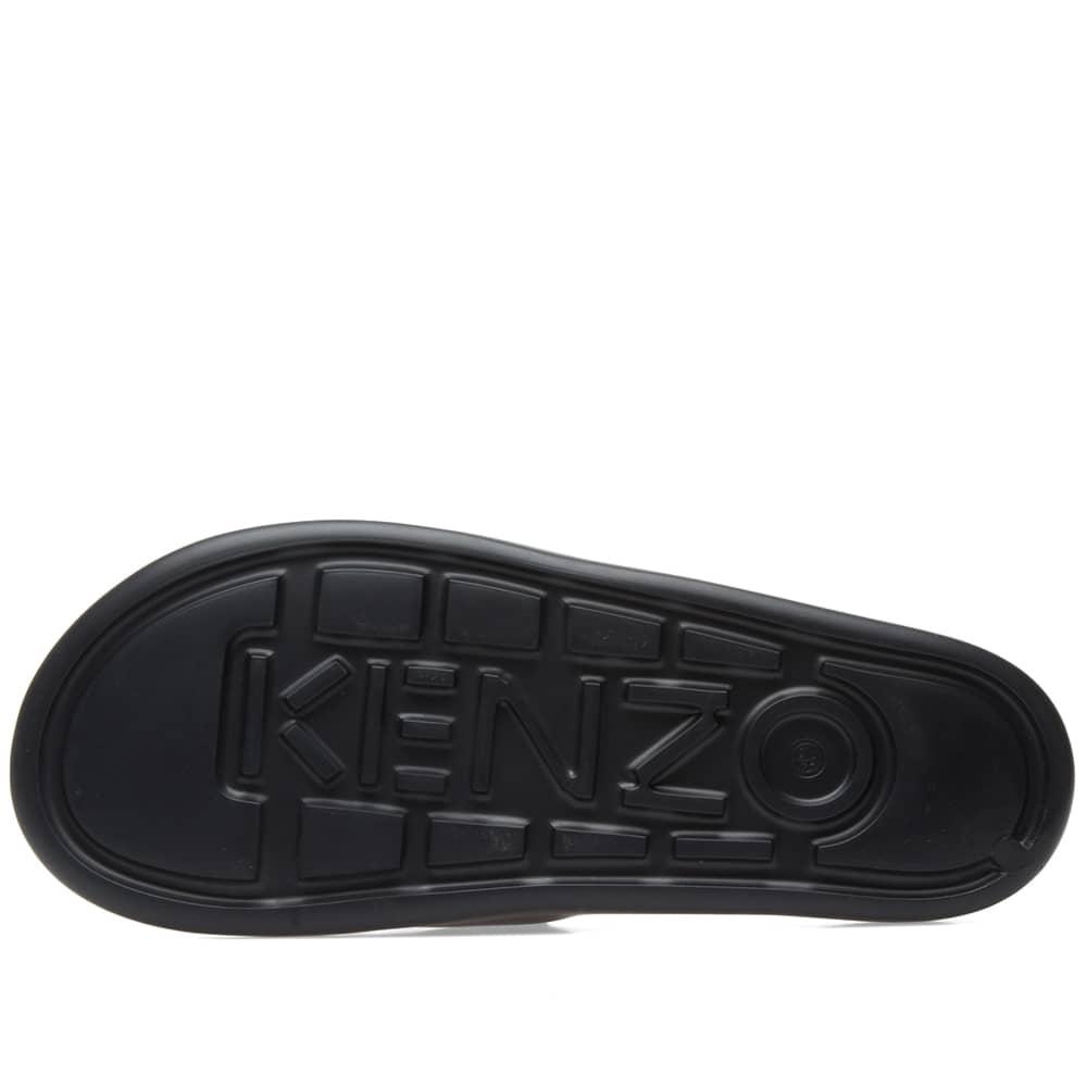 Kenzo Tiger Logo Slide - Black