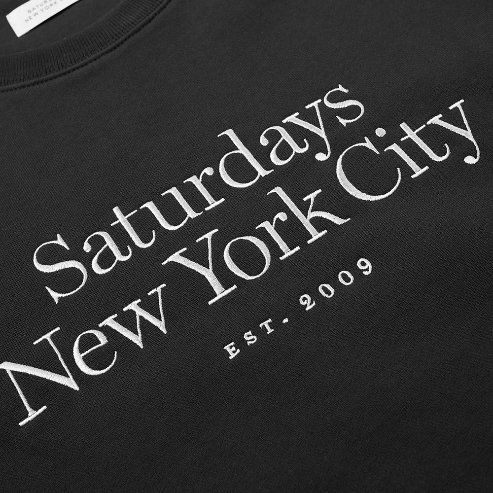 Saturdays NYC Bowery Embroidered Miller Standard Sweat - Black