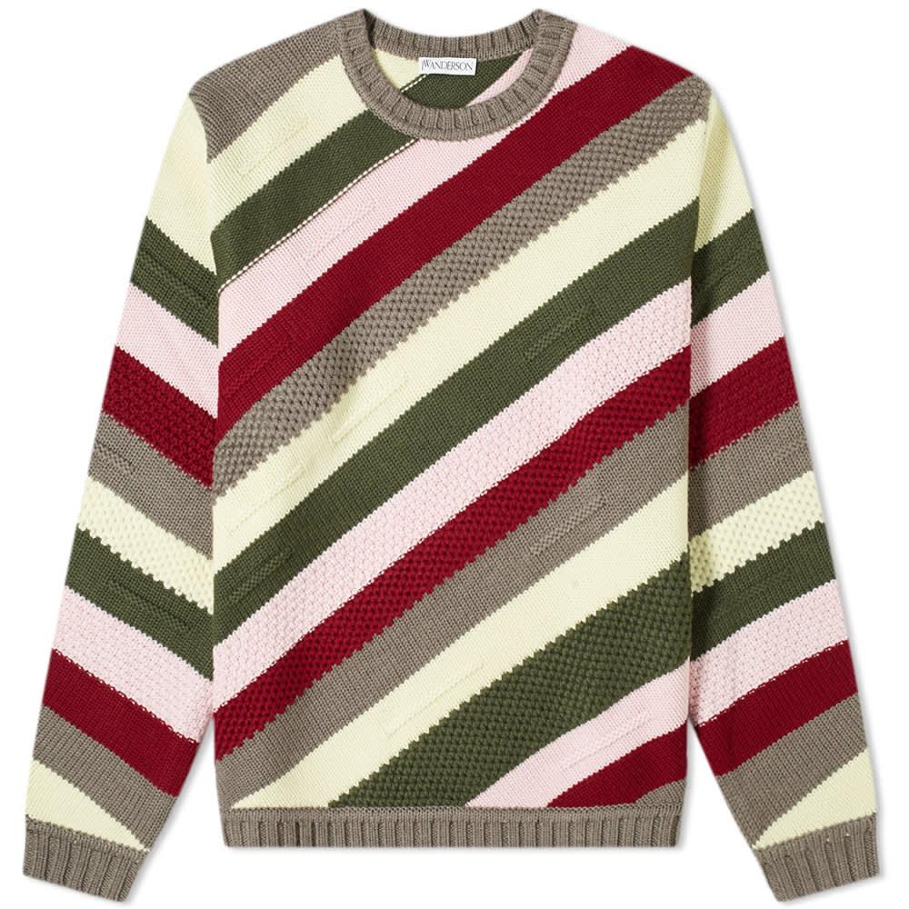 JW Anderson Chunky Stripe Knit - Ruby