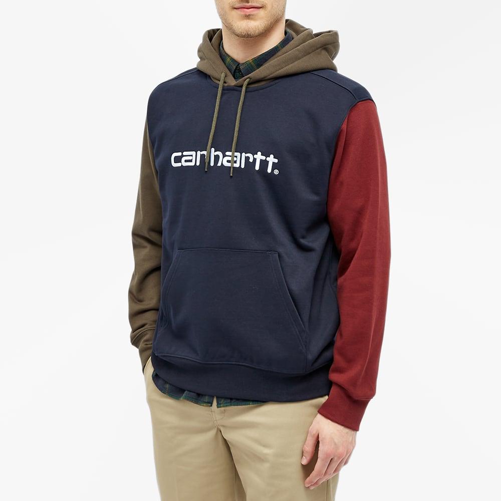 Carhartt WIP Hooded Carhartt Tricol Sweat - Dark Navy