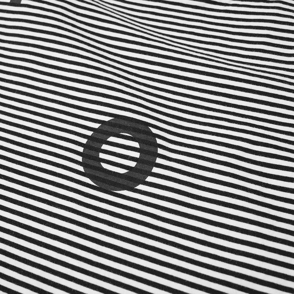 POP Trading Company Striped Logo Tee - Black & White