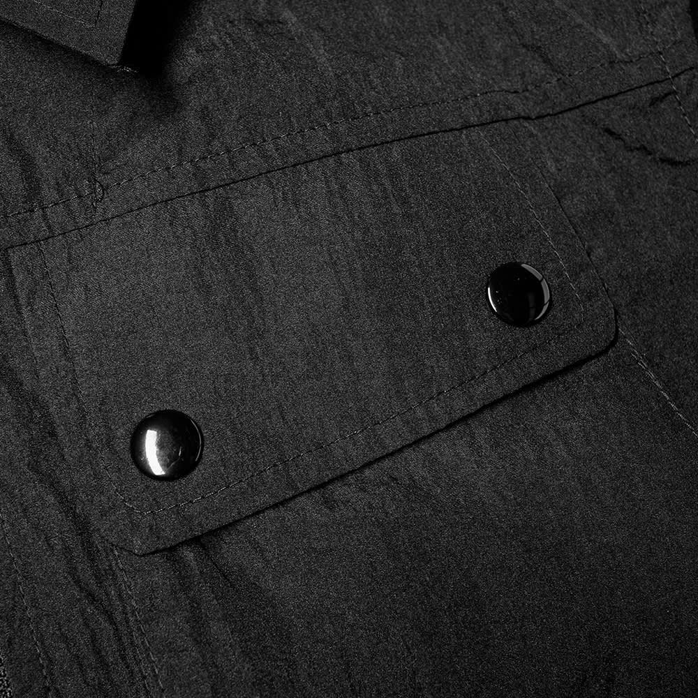 Pop Trading Company Big Pocket Nylon Zip Overshirt - Black