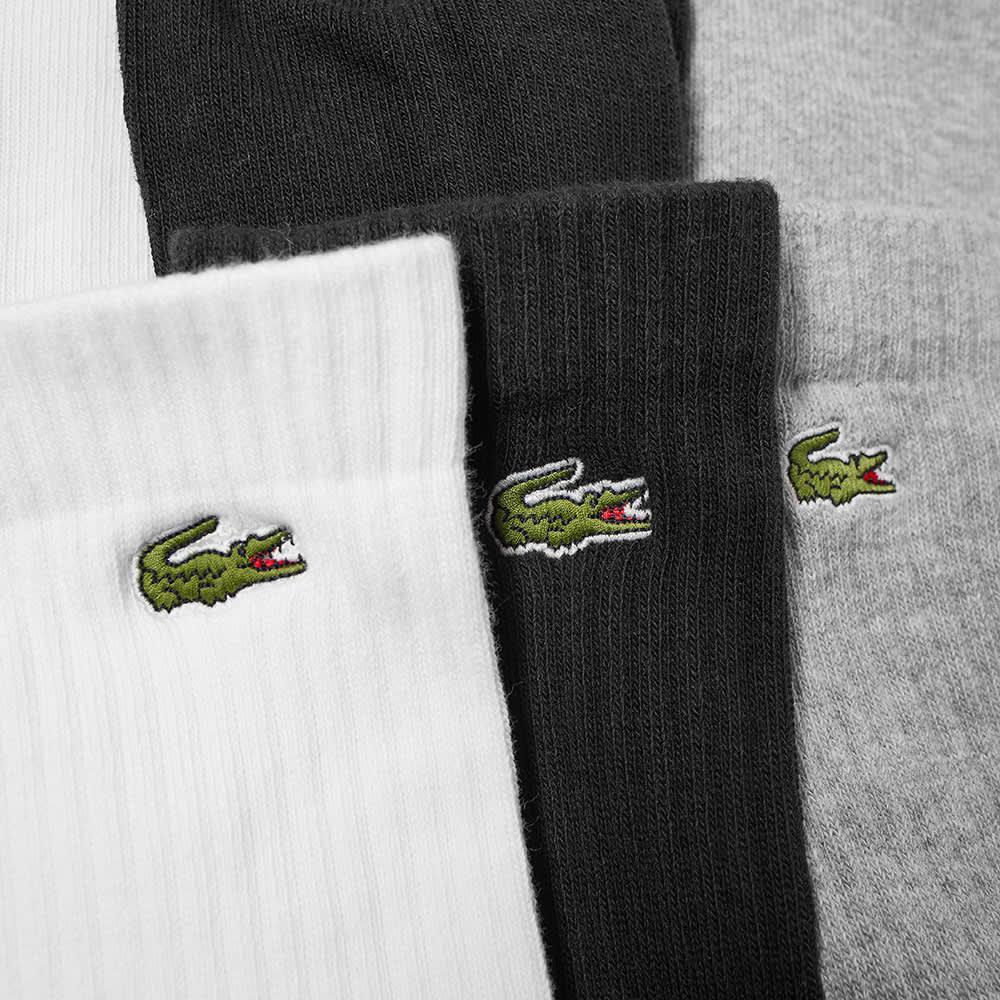 Lacoste Socks - 3 Pack - White, Black & Grey