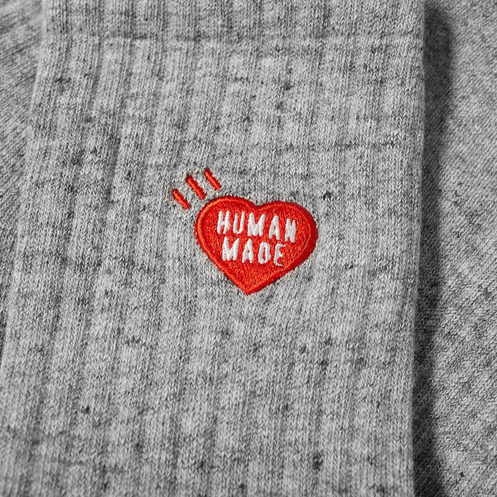 Human Made Heart Sock - Grey