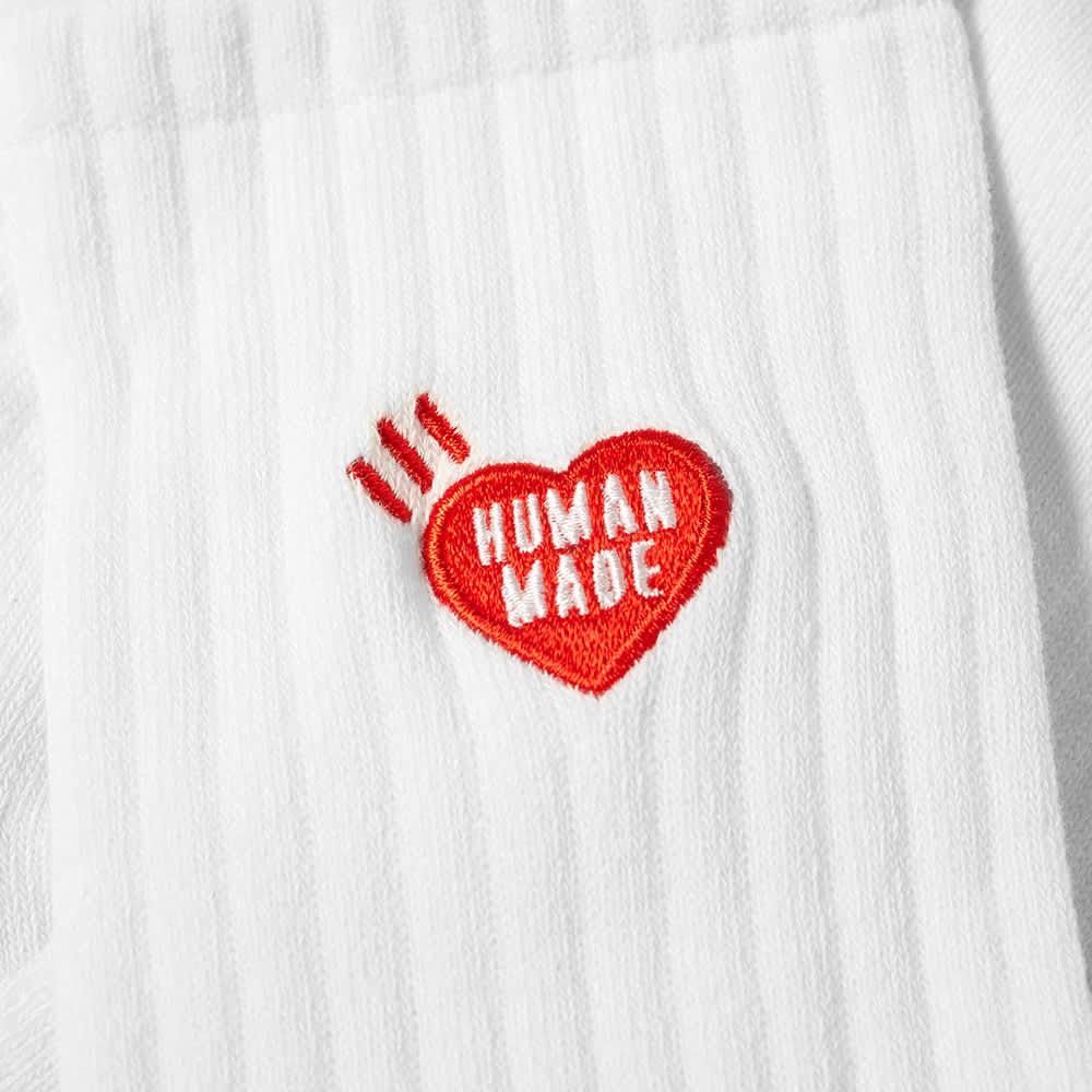 Human Made Heart Sock - White