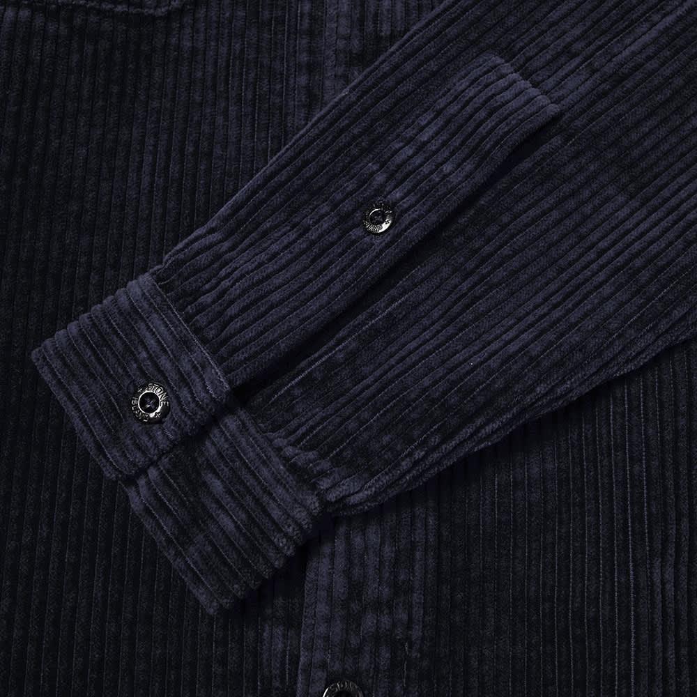 Stone Island Compass Sleeve Cord Shirt - Navy