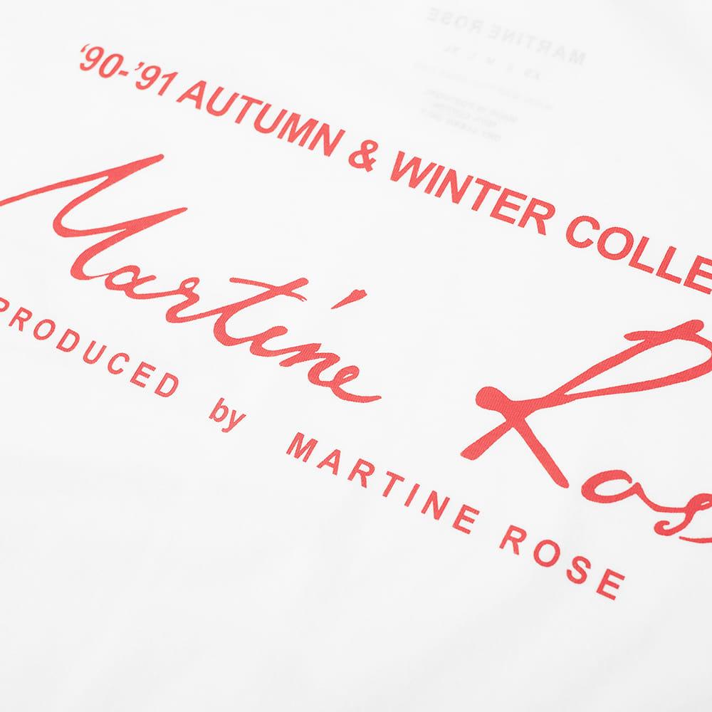 Martine Rose Mock Neck Logo Long Sleeve Tee - White