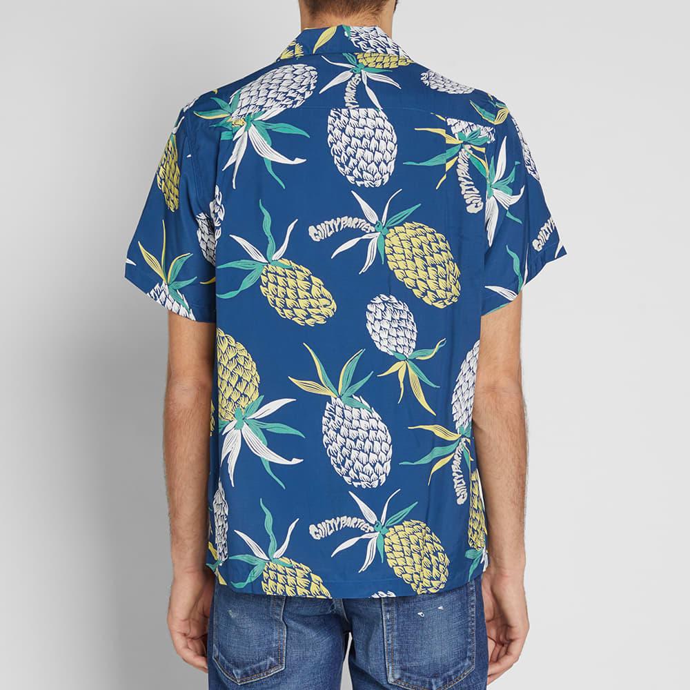 Wacko Maria Pineapple Hawaiian Shirt - Blue