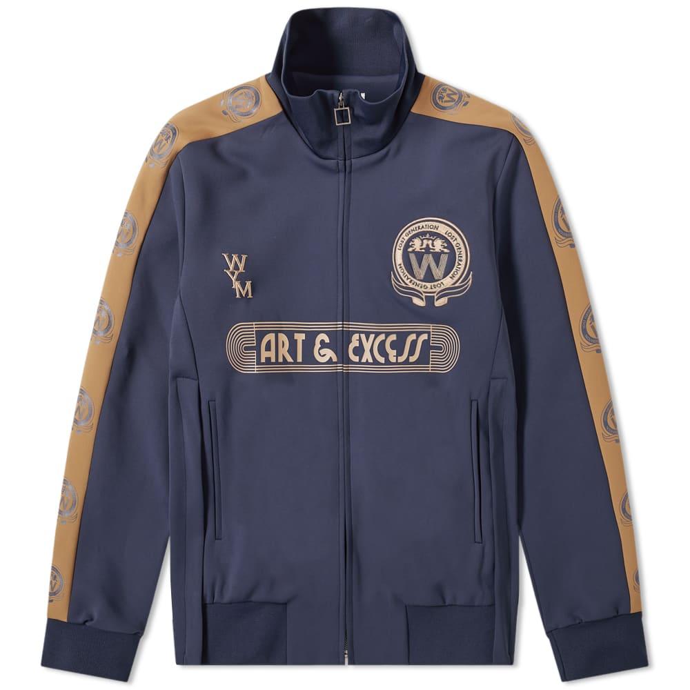 Wooyoungmi Logo Track Jacket - Navy & Yellow