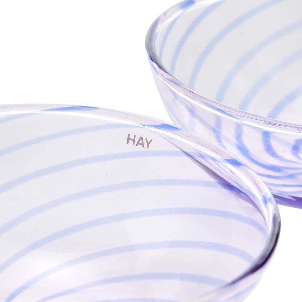 HAY Spin Bowl - Set Of 2 - Light Pink & Blue